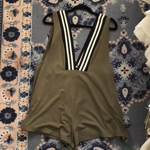 Free People Intimately Plunging Romper